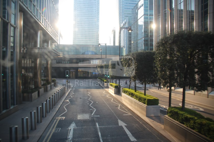 DLR Rail Replacement Bus Service A Tower Gateway Canary Wharf 039