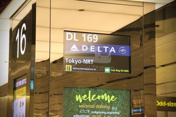 Delta DL169 NRT SIN 093