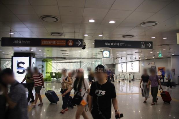 AREX Express Train Incheon International Airport Terminal 1 Seoul Station 017