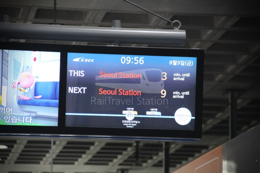 AREX Express Train Incheon International Airport Terminal 1 Seoul Station 028