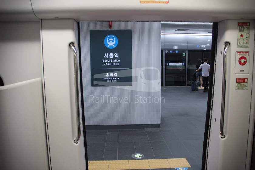AREX Express Train Incheon International Airport Terminal 1 Seoul Station 080