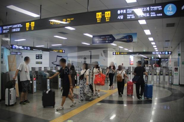 AREX Express Train Incheon International Airport Terminal 1 Seoul Station 091
