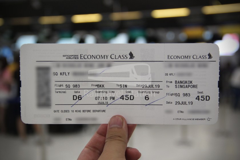 Singapore Airlines SQ983 BKK SIN 006