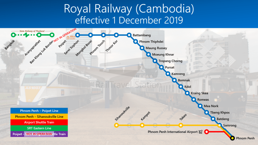 TRAINS1M2 Royal Railway Cambodia Network Only Sisophon 20191201