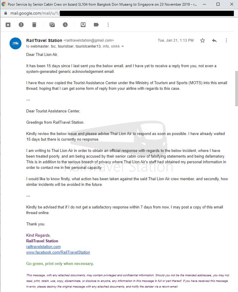 Thai Lion Air Complaint Screenshot 004