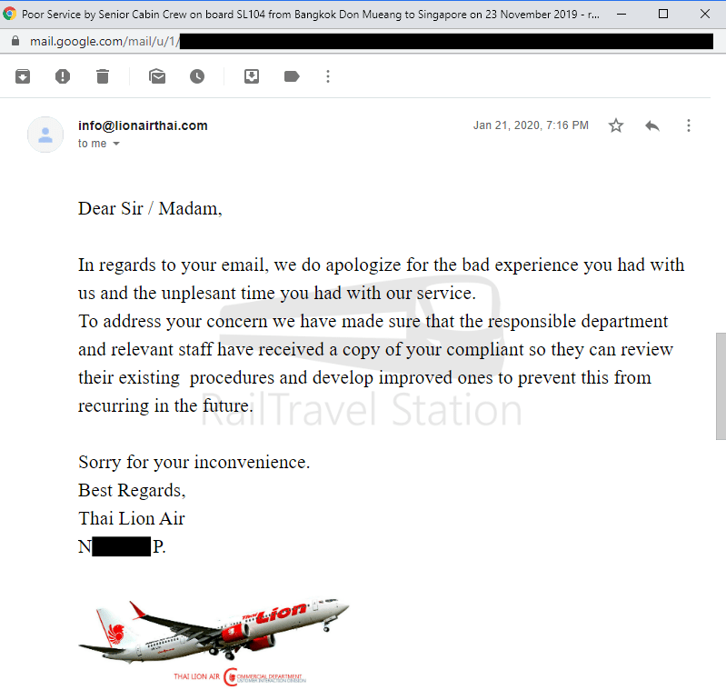Thai Lion Air Complaint Screenshot 005