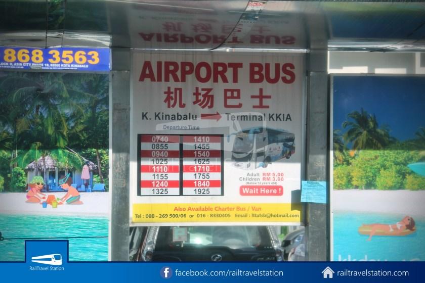 Kota Kinabalu Airport Bus Padang Merdeka KKIA 12