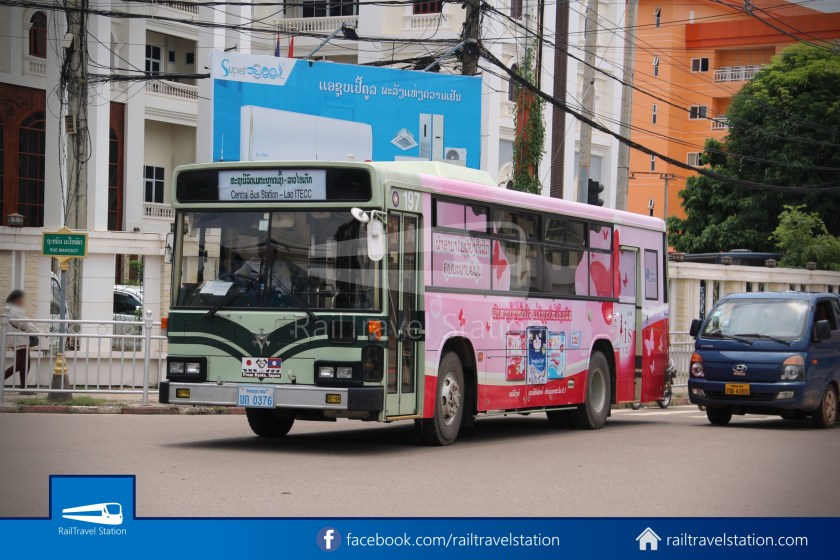 Vientiane City 2 Bus Service Lao ITECC-CBS Line 01 - CBS Bus Stop