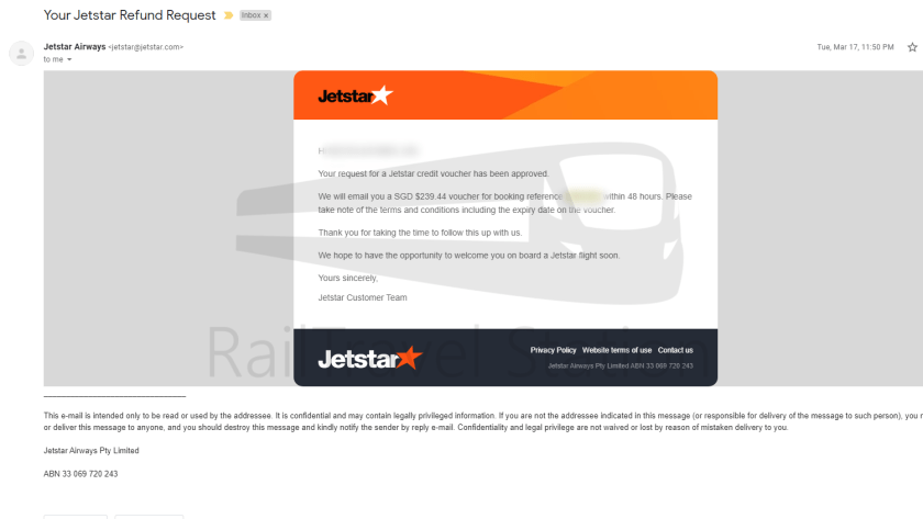 Jetstar Asia Refund Process COVID-19 002