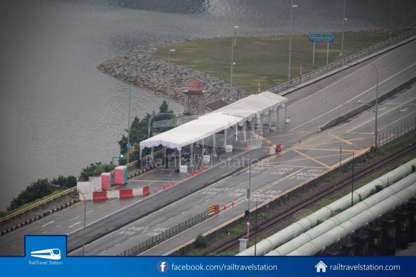 RTS Link Signing Tentage at Causeway Border