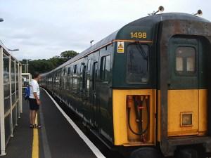 Lymington Pier - railway carriage