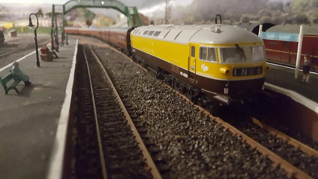 Kestrel locomotive on model railway