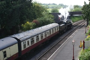 Steam Train with dining coaches