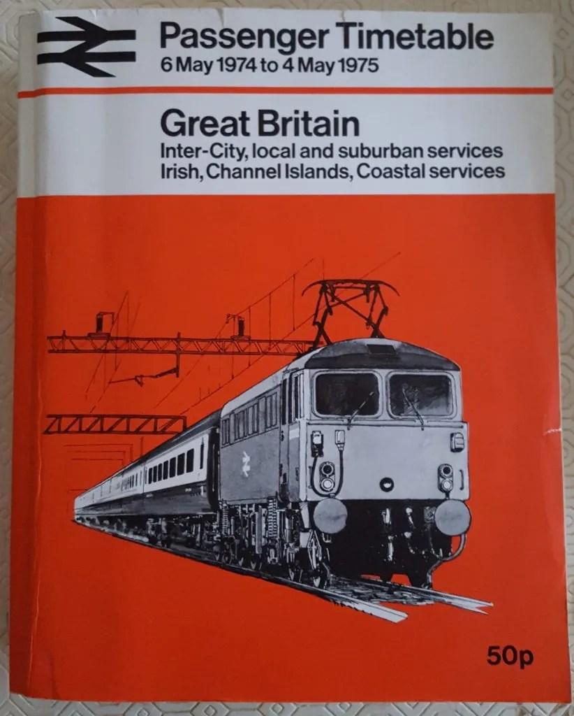 British Railways Passenger Timetable 1974-5