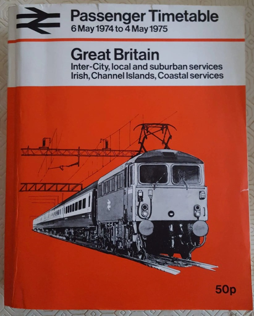 British Railways Passenger Timetable 1974-5