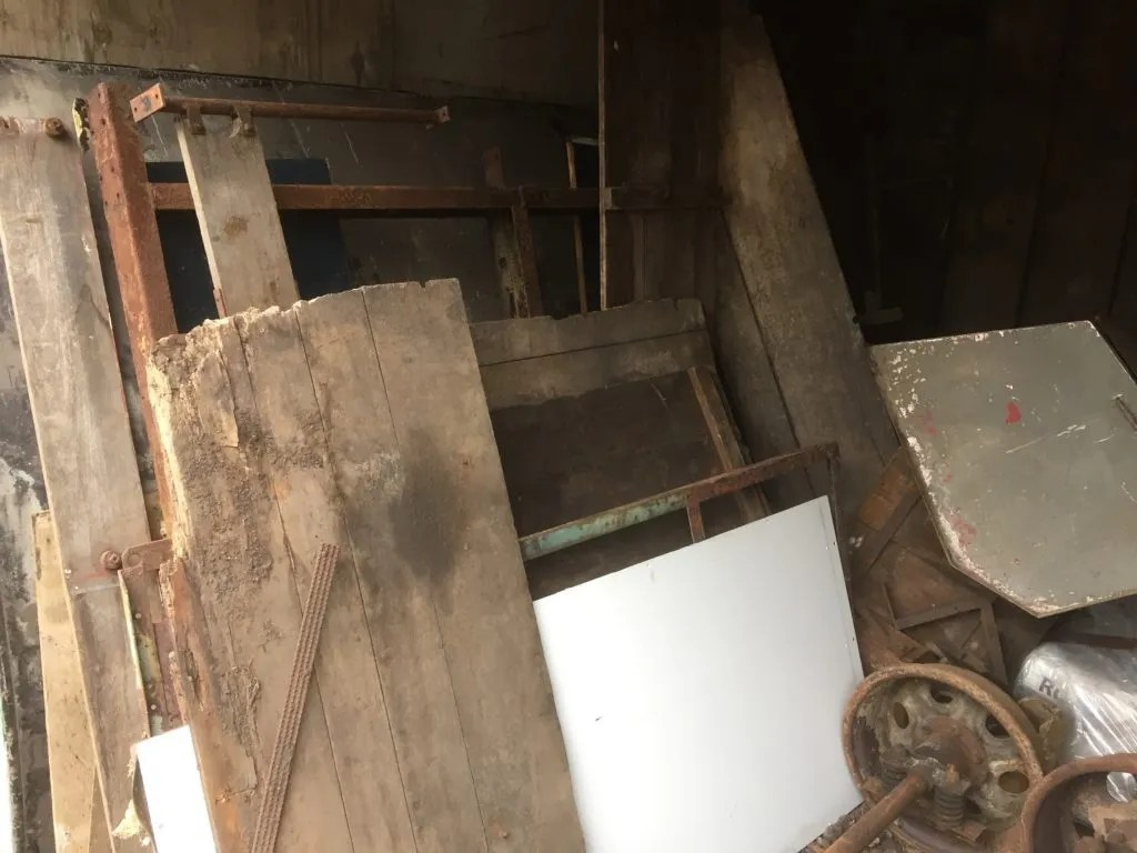 Wickham Trolley dismantled