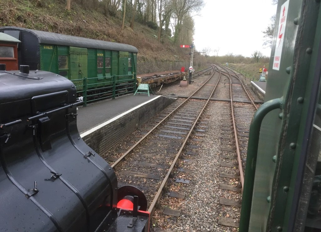 Ready for the off at the Somerset and Dorset Railway Event