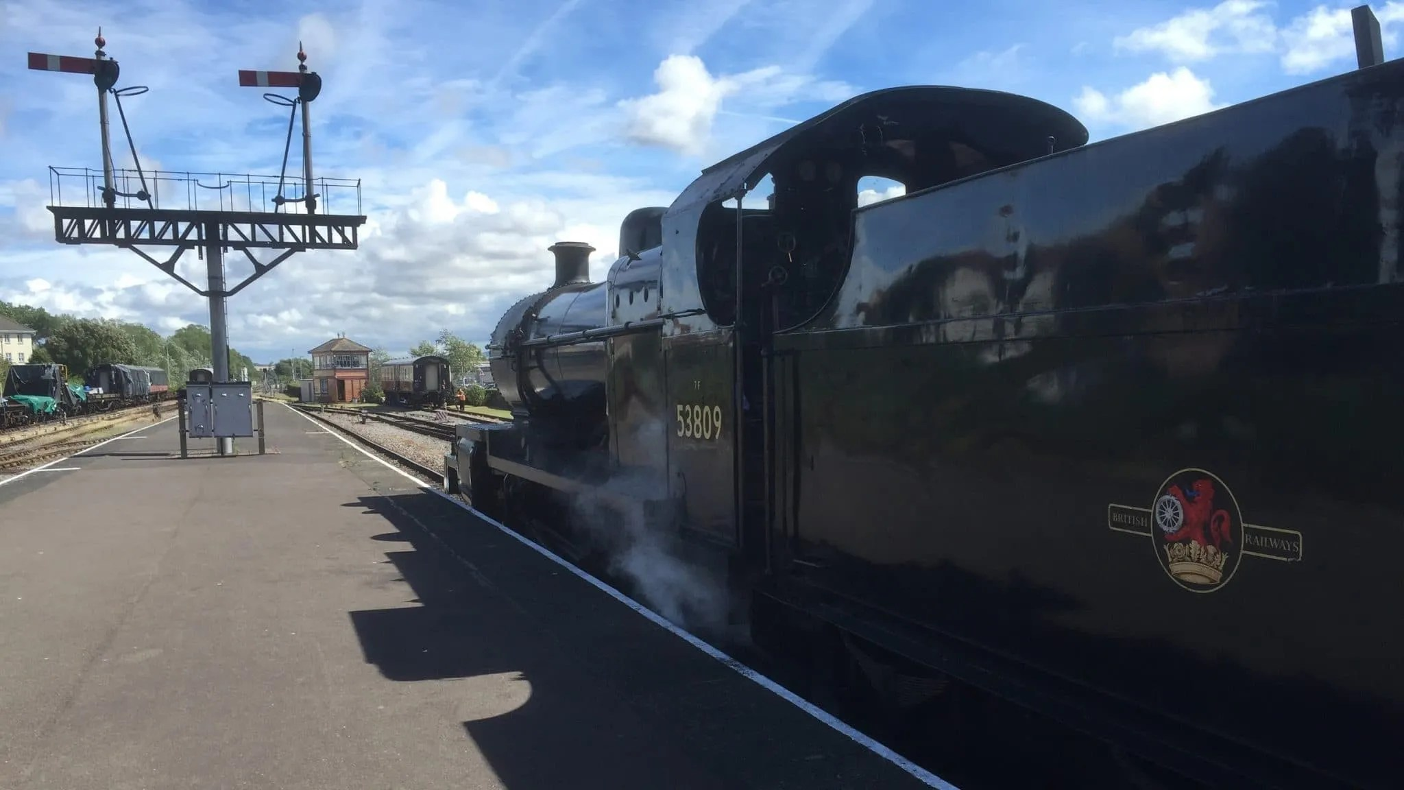53809 prepares for departure from Minehead on the West Somerset Railway