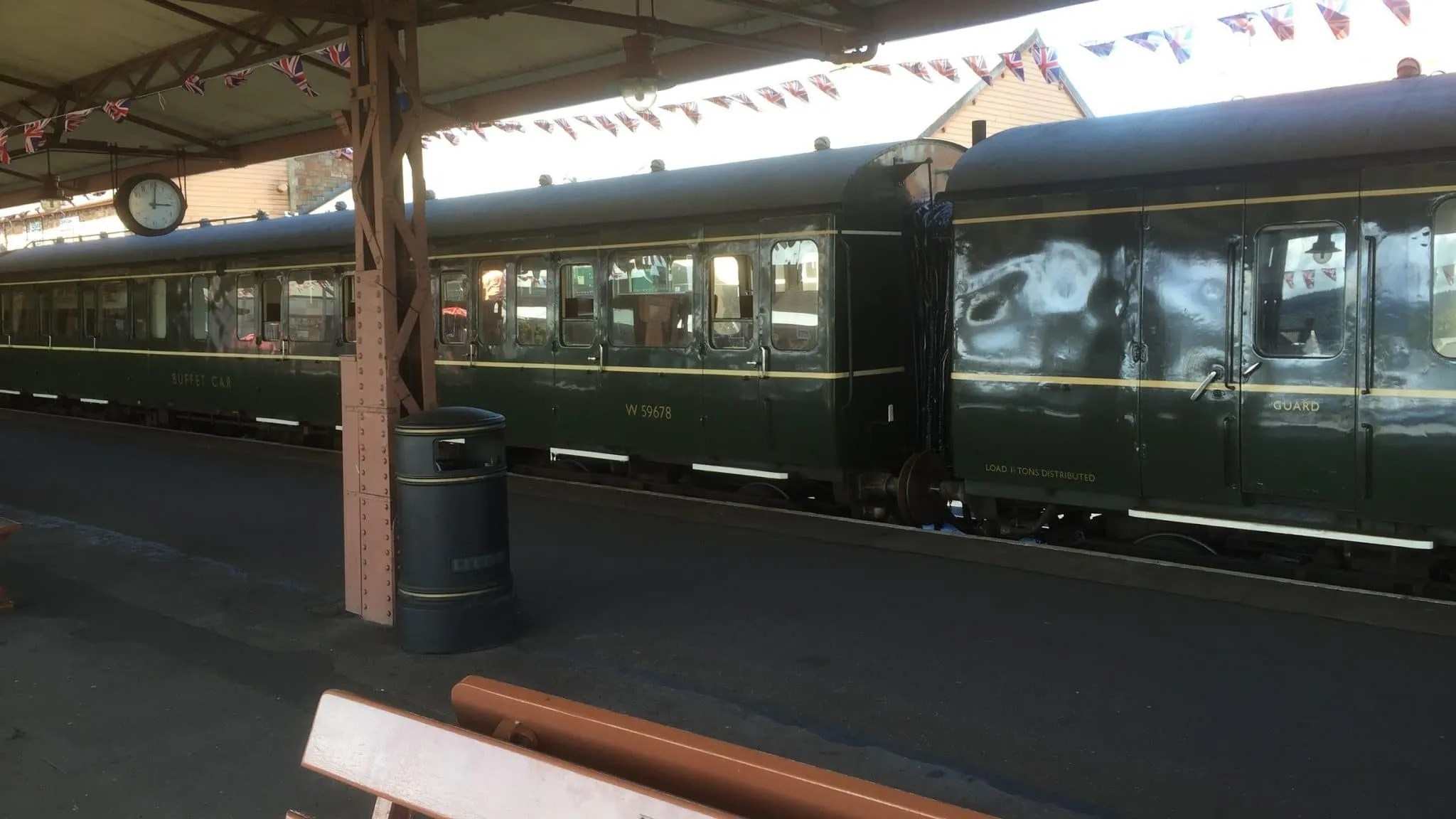 Class 115 DMU now equipped with buffet car at Minehead on the West Somerset Railway