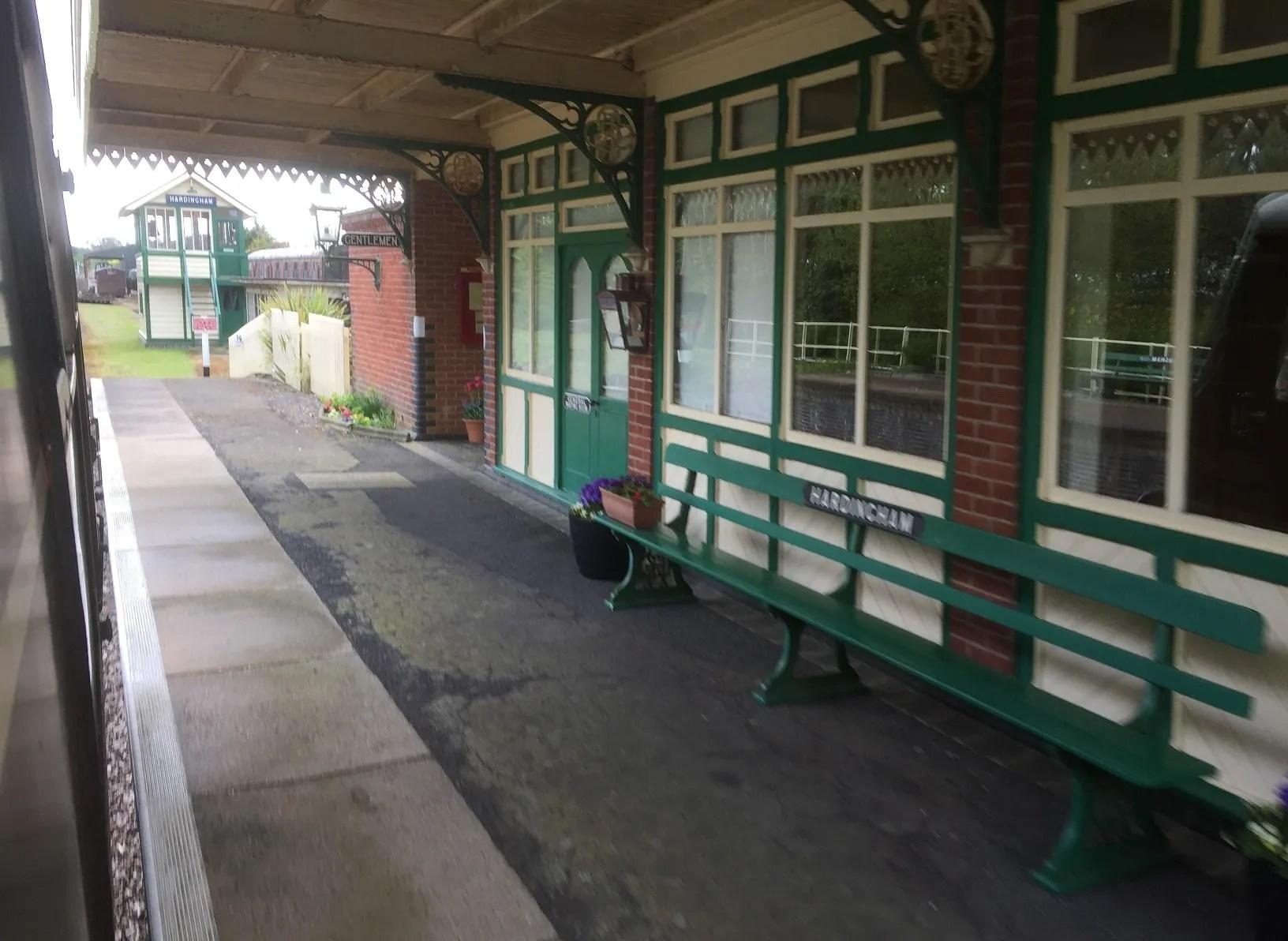 The privately owned Hardingham Station