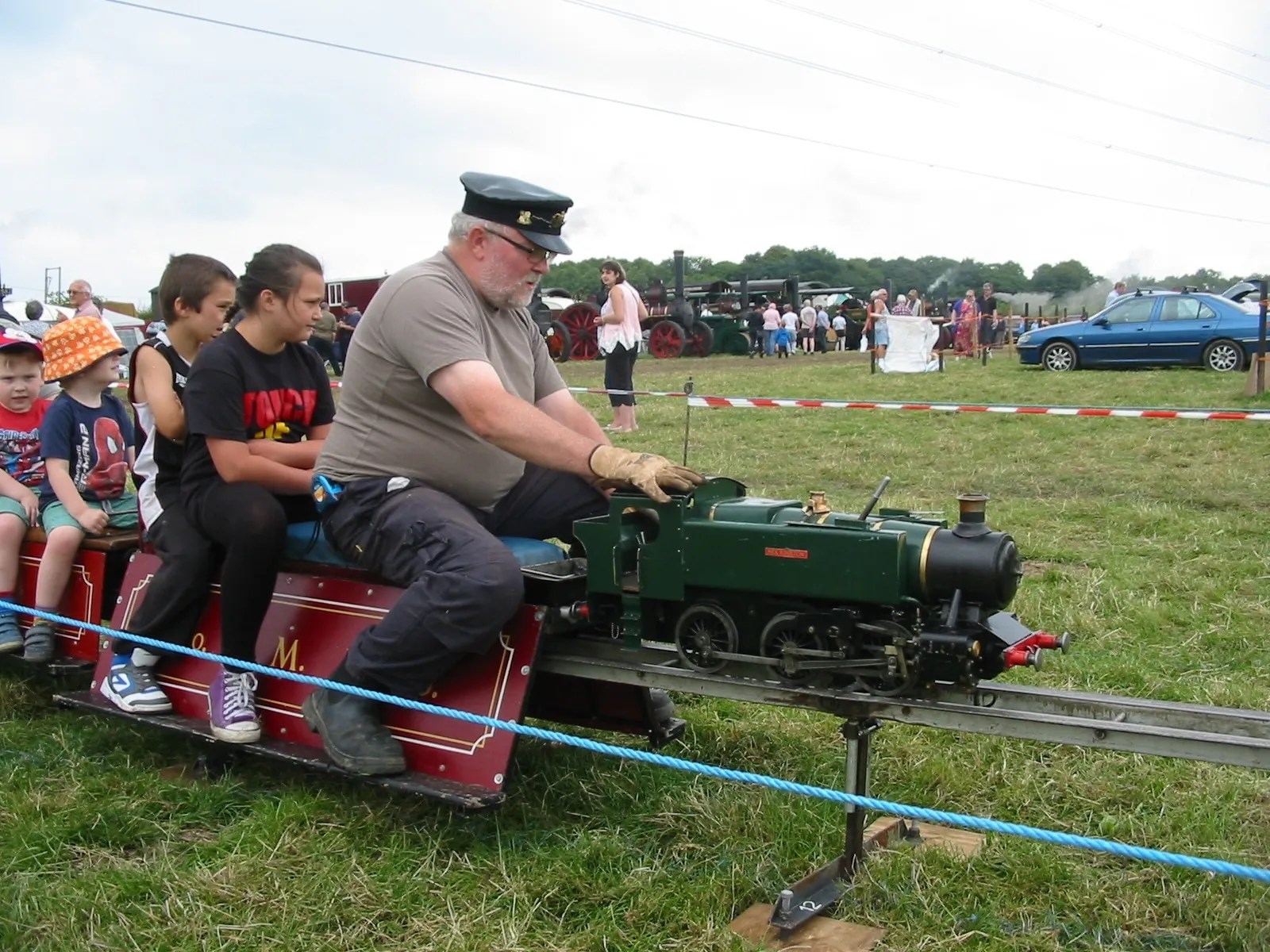 model train at the Barton Under Needwood Steam Rally