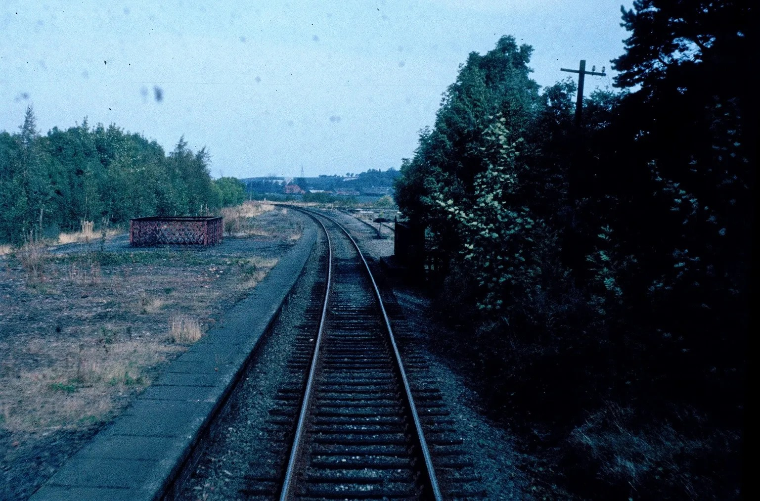 Cab view - Class 25- East Leake Station - railway photographs