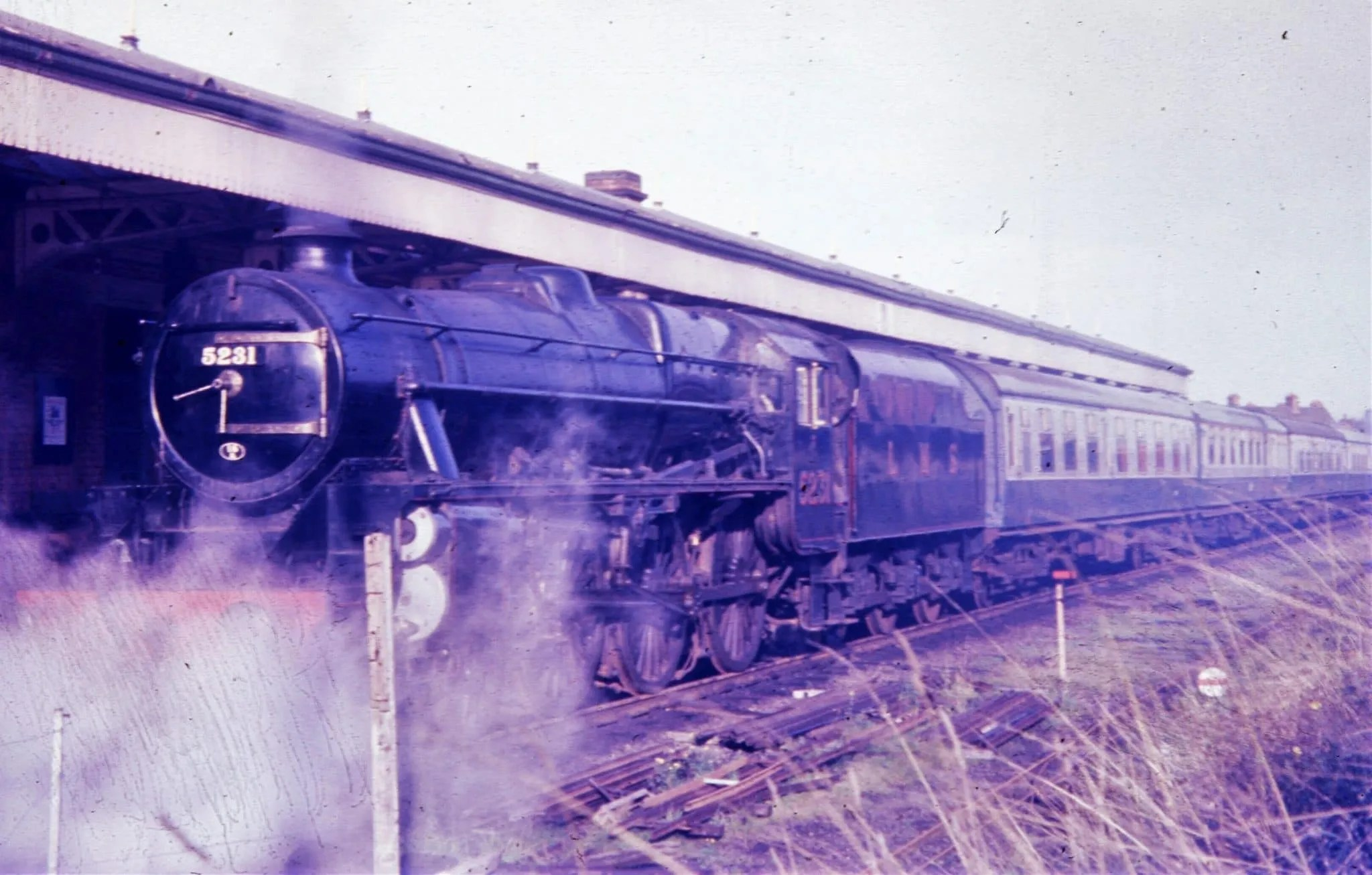 Stanier Black Five 5231 - steam locomotive - at Loughborough Central