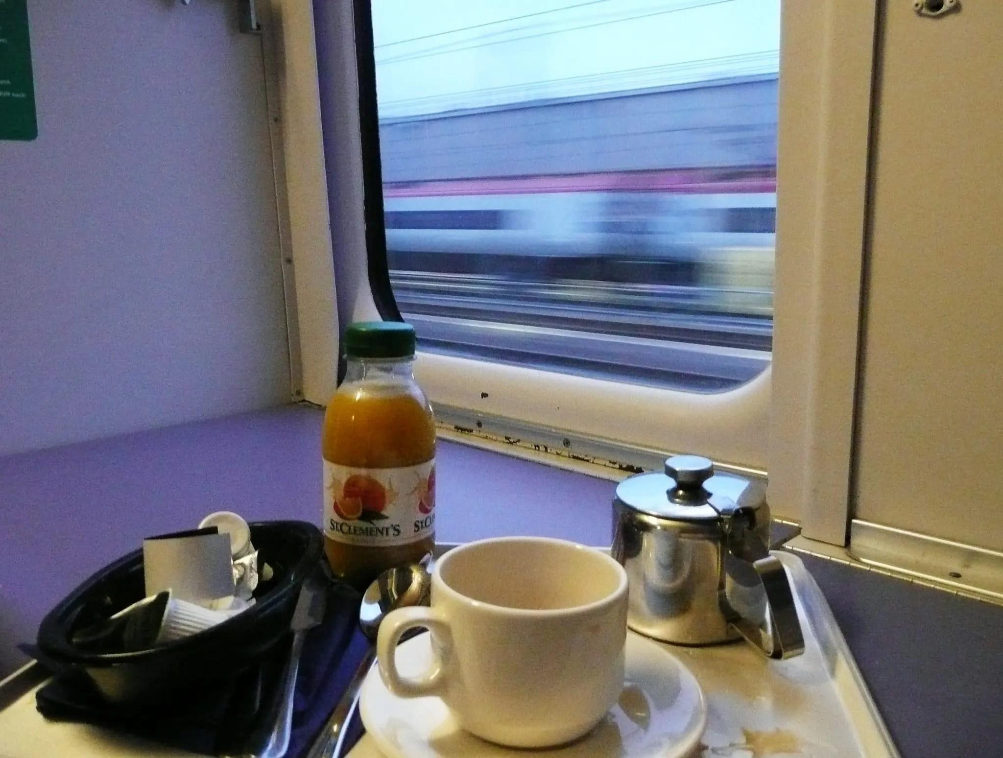Caledonian sleeper train breakfast