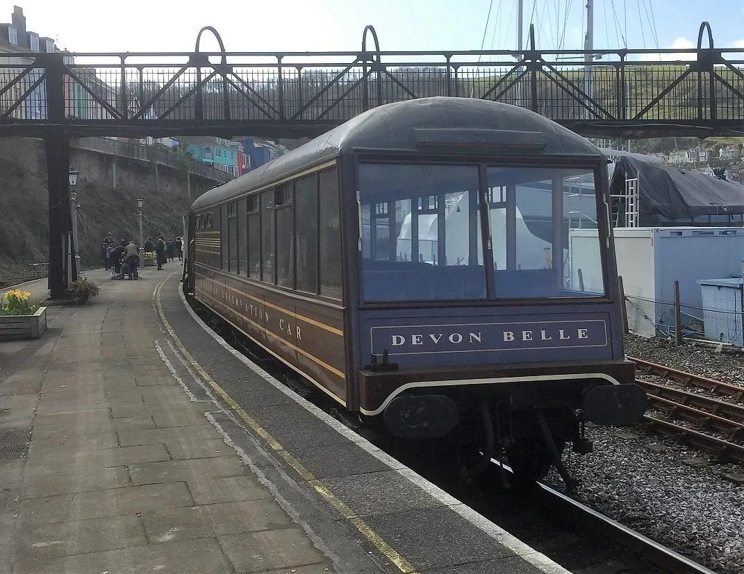Devon Belle Pullman Observation car at Kingswear station