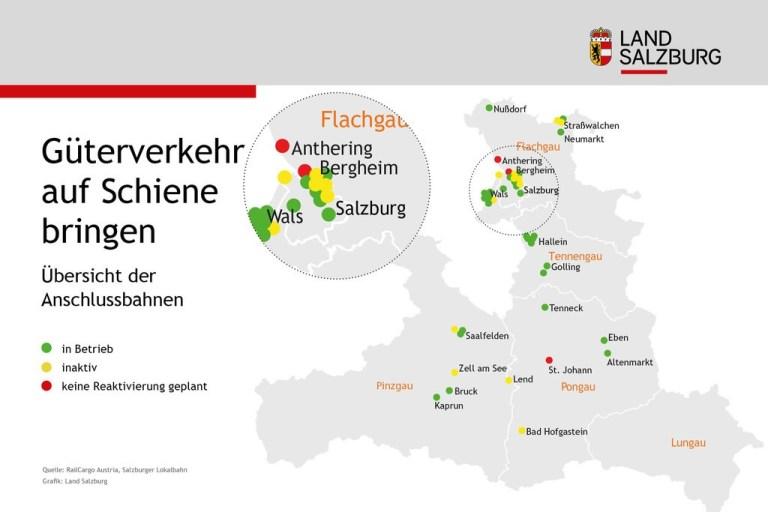 Förderung für Güterverkehr in Salzburg