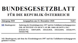 Neuigkeiten zum Eisenbahngesetz in Österreich