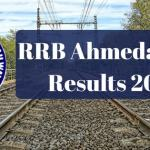 RRB Ahmedabad Results 2017