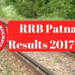RRB Patna Results 2017-18