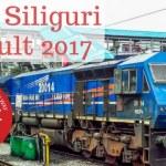 RRB Siliguri Result 2017