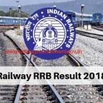 RRB Railway Result 2018
