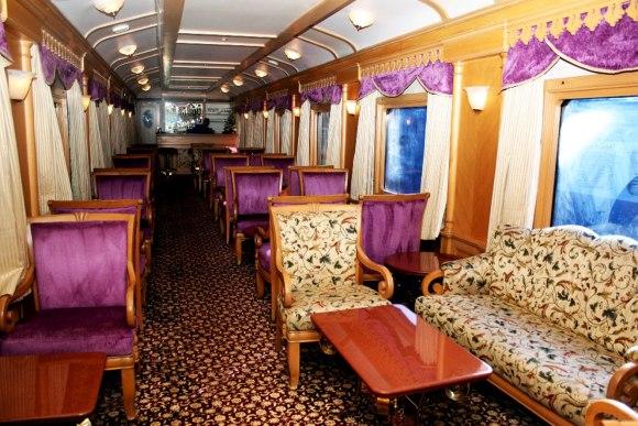 Deccan Odyssey India train lounge