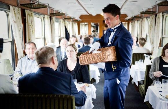 Golden eagle danube express train restaurant car