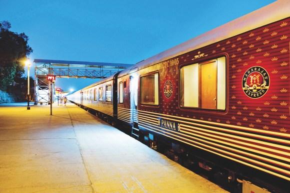 Maharajas Express train guests India