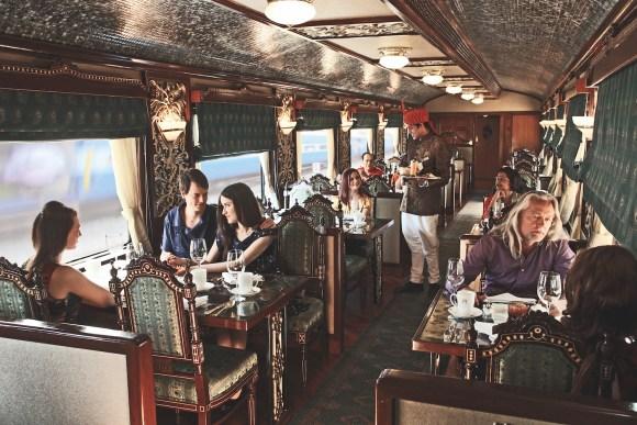 Maharajas Express train guests