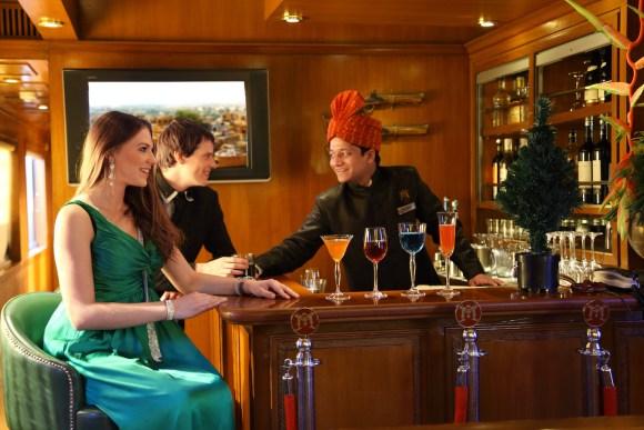 Maharajas Express train India bar