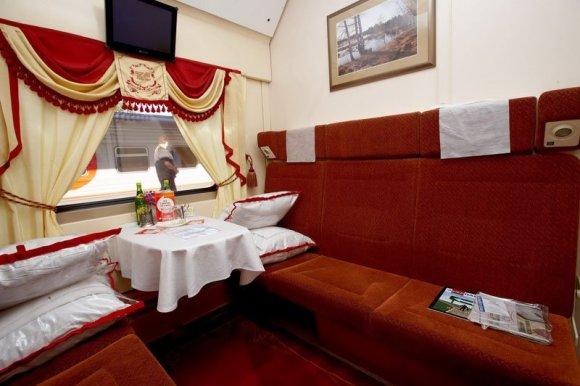 red arrow train russia 1st class