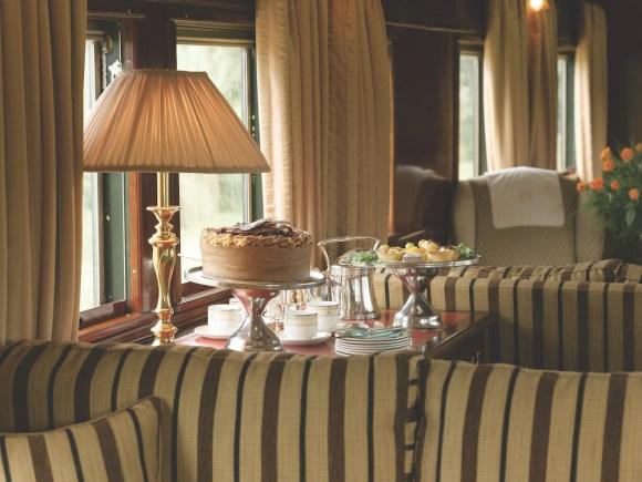 Rovos Rail Pride of Africa train food afternoon tea