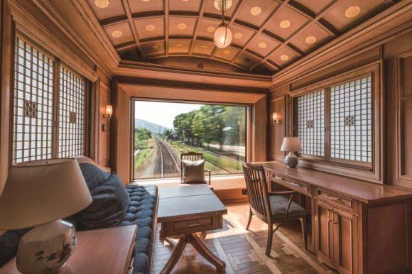 Seven Stars in Kyushu train Japan deluxe suite