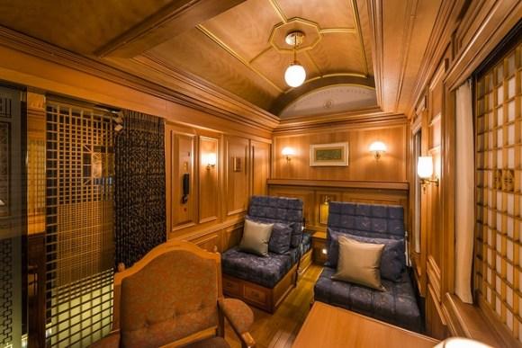 Seven Stars in Kyushu train Japan cabin