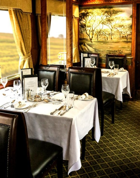 The Blue Train South Africa restaurant dining car