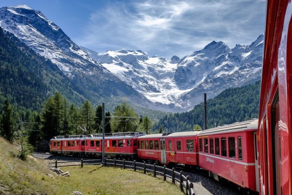 Bernina Express Switzerland train