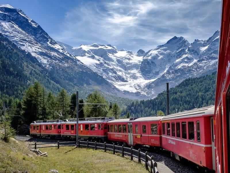 Bernina Express Switzerland train