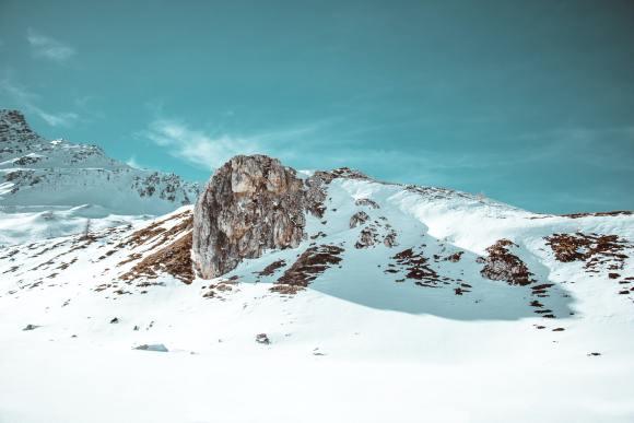Board amongst the glaciers