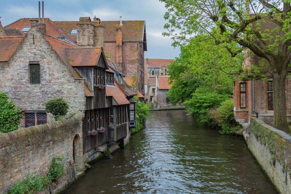 river in Bruges