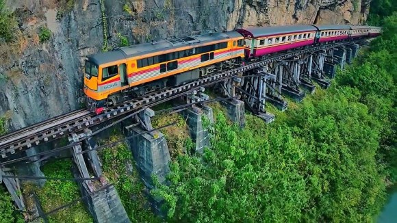 Death Railway train Thailand